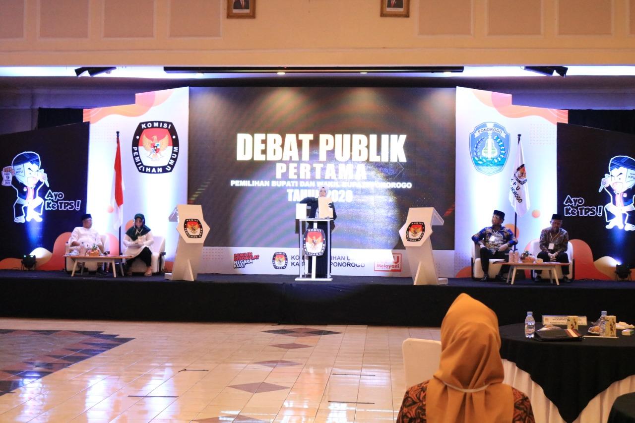 Debat Publik Tahap I Pemilihan Serentak Lanjutan Tahun 2020